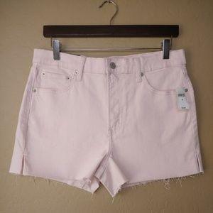 GAP High Rise Cutoff Pink Denim Shorts